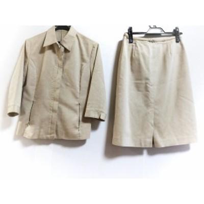 ニューヨーカー NEW YORKER スカートスーツ サイズ11RA レディース ベージュ【還元祭対象】【中古】20200707