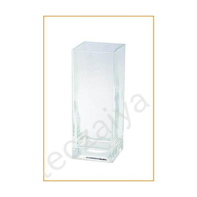 """Diamond Star Glass Clear Square Container, 4"""" by 4"""" by 10""""【並行輸入品】"""