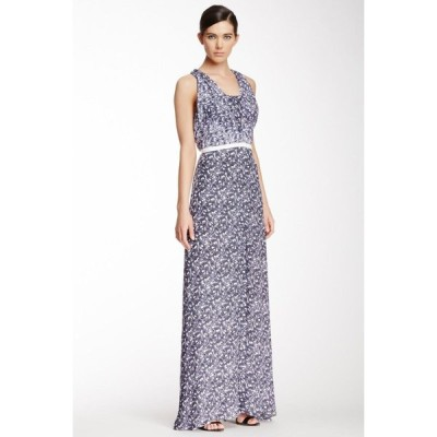 ワンピース イーガル アズローエル  Yigal Azrouel Ombre Paisley Georgette Silk MAXI Dress Gown Purple 6