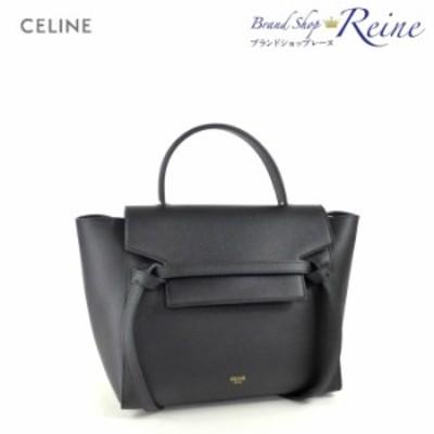 新品 セリーヌ(CELINE) マイクロ ベルトバッグ 2way ハンド ショルダー バッグ 18915 BLACK