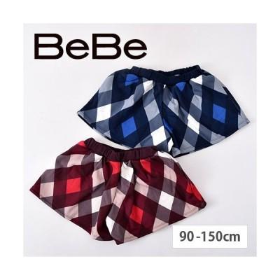 子供服 BEBE ベベ アウトレット 女の子 幾何学 プリント 【BeBe/ベベ】 裏起毛 ショートパンツ 1700