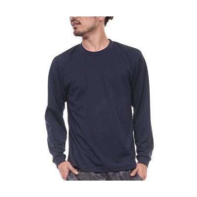 ティーシャツドットエスティー 長袖Tシャツ ドライ 長袖 無地 UVカット 4.4oz メンズ ネイビー 3L