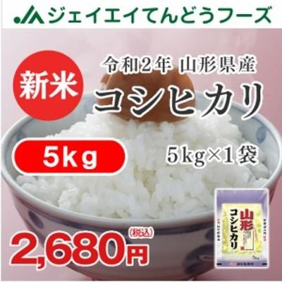 米 お米 令和2年  山形県産 コシヒカリ 精米 5kg(5kg×1袋) 産地直送 ryk0502