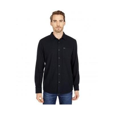 Volcom ヴォルコム メンズ 男性用 ファッション ボタンシャツ Caden Solid Long Sleeve Button-Up - Black