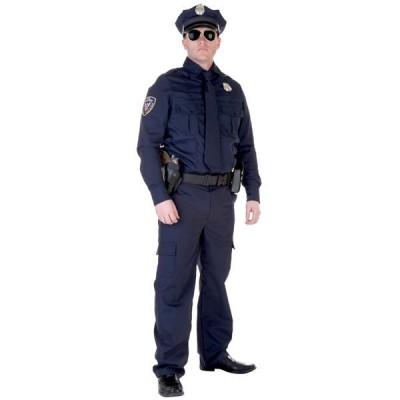 ポリス コスチューム 警察官 リアル ハロウィン 本格的 コスプレ 舞台 演劇 イベント パーティー メンズ 大人
