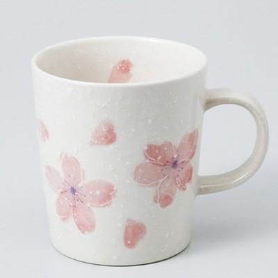 和食器 カスミ桜軽 マグカップ ピンク カフェ コーヒー 紅茶 珈琲 お茶 オフィス おうち 食器 陶器 おしゃれ うつわ