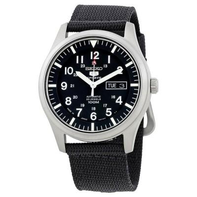 腕時計 セイコー New Seiko Automatic Black Dial Mens Watch SNZG15J1