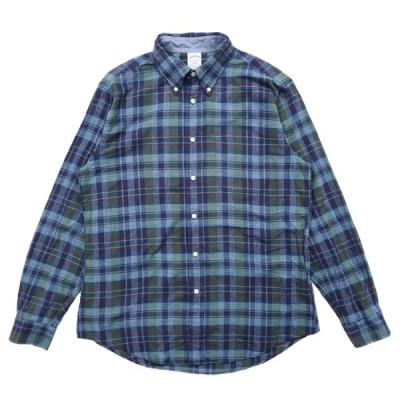 ブルックスブラザーズ REGENT コットン ボタンダウンシャツ チェック サイズ表記:L