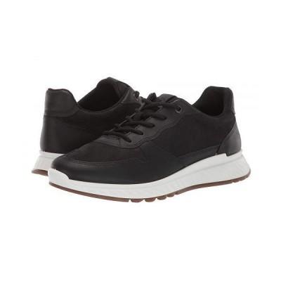 ECCO エコー レディース 女性用 シューズ 靴 スニーカー 運動靴 ST.1 Sneaker - Black/Black