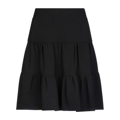 クロエ CHLOÉ ひざ丈スカート ブラック 34 トリアセテート 83% / ポリエステル 17% ひざ丈スカート
