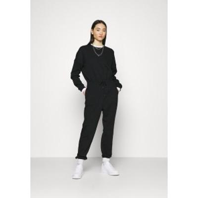 エブンアンドオッド レディース ワンピース トップス SWEAT - Oversized comfy - Jumpsuit - black black