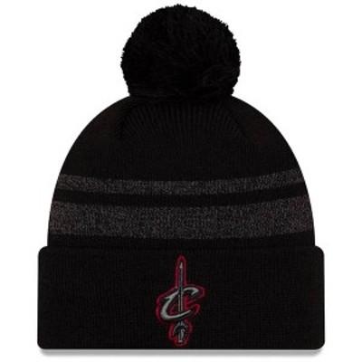 ニューエラ メンズ 帽子 アクセサリー Cleveland Cavaliers New Era Cuffed Knit Hat with Pom Black
