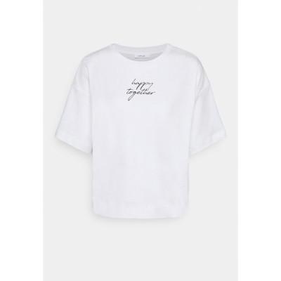 オーパス Tシャツ レディース トップス SETTY LETTERING - Print T-shirt - white