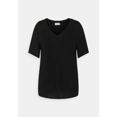 カフェ カーブ シャツ レディース トップス AMI BLOUSE - Basic T-shirt - black deep