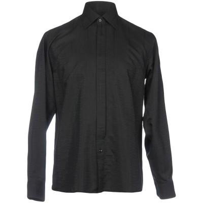 MIRTO シャツ ブラック 37 コットン 50% / レーヨン 50% シャツ