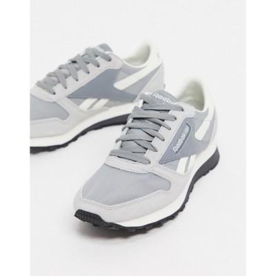 リーボック メンズ スニーカー シューズ Reebok Classics leather AZ sneakers in gray Gray