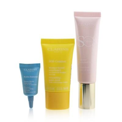 クラランス セット&コフレ Clarins ギフトセット SOS Beaute Set (1x Primer 30ml + 1x Mask 15ml Lip Balm 3ml) 01 Rose 3pcs