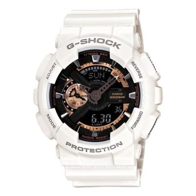 10年保証 CASIO G-SHOCK カシオ Gショック GA-110RG-7A 腕時計 時計 ブランド メンズ キッズ 子供 男の子 アナデジ 日付 カレンダー 防水 ホワイト 白 ローズ