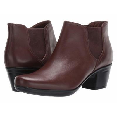 クラークス ブーツ&レインブーツ シューズ レディース Emslie Noreen Dark Brown Leather