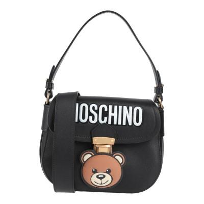 モスキーノ MOSCHINO ハンドバッグ ブラック 革 ハンドバッグ