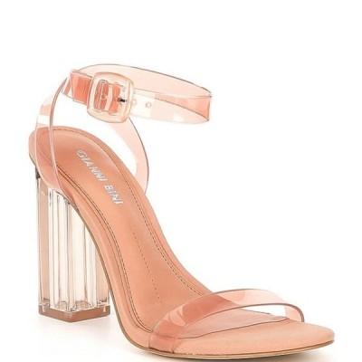 ジャンビニ レディース サンダル シューズ Liyra Clear Block Heel Sandals