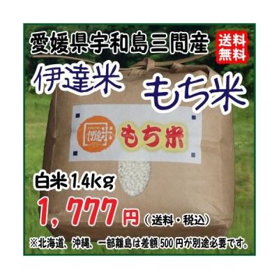 愛媛 三間産 減農薬 特別栽培米 令和元年産 ( もち米 ) 白米 1.4kg 百姓直送 送料無料 宇和海の幸問屋
