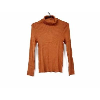 ニジュウサンク 23区 長袖セーター サイズ32 XS レディース 美品 オレンジ タートルネック【中古】20200129