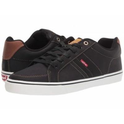 Levis(R) Shoes リーバイス メンズ 男性用 シューズ 靴 スニーカー 運動靴 Turner Tumbled Wax Black/Tan【送料無料】