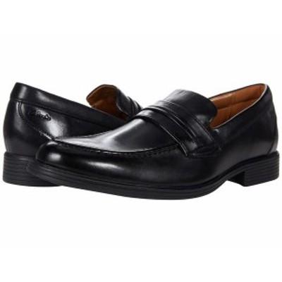クラークス メンズ スリッポン・ローファー シューズ Whiddon Loafer Black Leather
