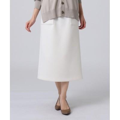 【アンタイトル】 エアクッションジャージタイトスカート レディース オフホワイト 02(M) UNTITLED