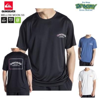 QUIKSILVER クイックシルバー MELLOW MOON SS QLY211075 ラッシュガード Tシャツ レギュラーフィット UVカット 半袖 リサイクル素材 ロゴ 2021春モデル 正規品