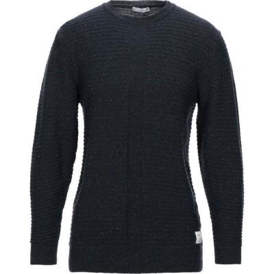 ブロックイレブン BL.11 BLOCK ELEVEN メンズ ニット・セーター トップス sweater Dark blue