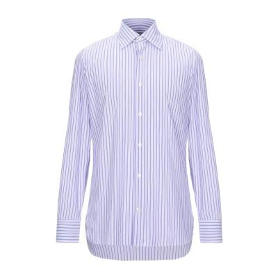 GIAMPAOLO シャツ ライトパープル 39 コットン 77% / ナイロン 18% / ポリウレタン 5% シャツ