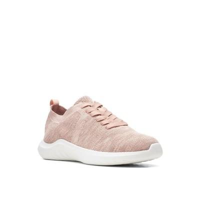 クラークス スニーカー シューズ レディース Women's Cloud Steppers Nova Glint Sneakers Light Pink Knit