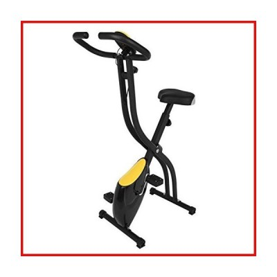Folding Exercise Bike, Indoor Cycling Bike with Digital Monitor and Adjustable Seat for Home Cardio Workout,Exercise Bicycle with Safety Han