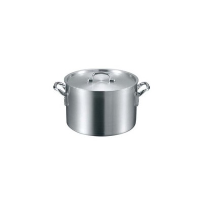 【まとめ買い10個セット品】 EBM アルミ S型 半寸胴鍋 18cm【 ガス専用鍋 】