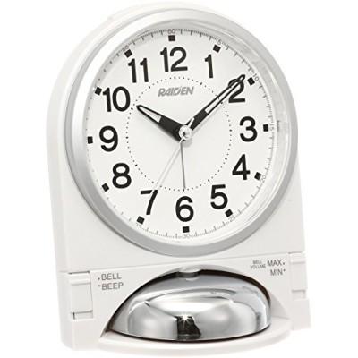 セイコー クロック 目覚まし時計 アナログ 大音量 切替式 アラーム PYXIS ピクシス RAIDEN ライデン 白 パール NR436W SEIKO