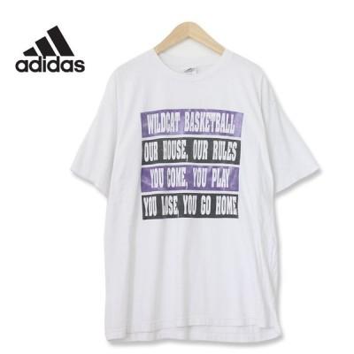 adidas アディダス ワイルドキャッツ カレッジ パフォーマンスロゴ Tシャツ ホワイト Lサイズ t180612-9