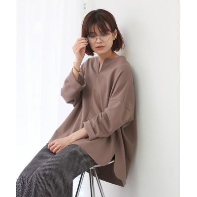 tシャツ Tシャツ 【WEB&一部店舗限定】スリットネックカットソープルオーバー