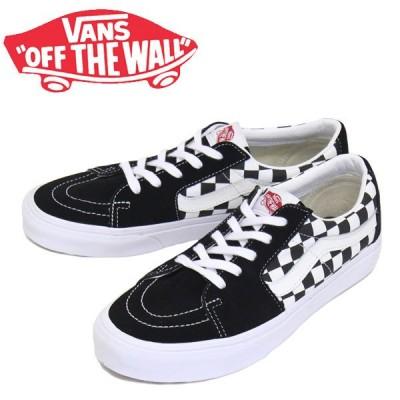 VANS (ヴァンズ バンズ) VN0A4UUK4W7 Sk8-Low スケートロー スニーカー (Canvas/Suede) Black/Checkerboard VN286