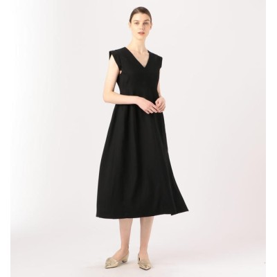 【トゥモローランド/TOMORROWLAND】 BAUME The Black Contemporary Vカットパネルドレス