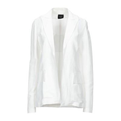 アリジ ALYSI テーラードジャケット ホワイト 42 レーヨン 51% / 麻 45% / ポリウレタン 4% テーラードジャケット