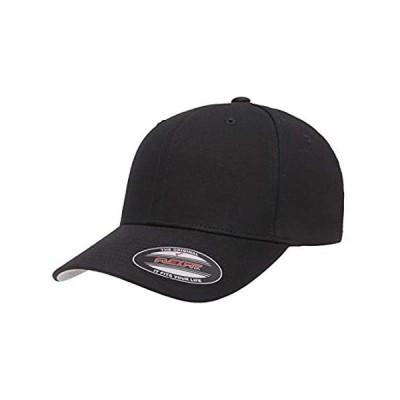Flexfit Cotton Twill Fitted Cap, Black, Small/Medium