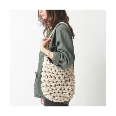 (alienina/アリエニーナ)【alienina(アリエニーナ)】KATI BAG T20KB カラー3色 編み込み トートバッグ ショルダーバッグ 鞄 レディース/レディース WHITE