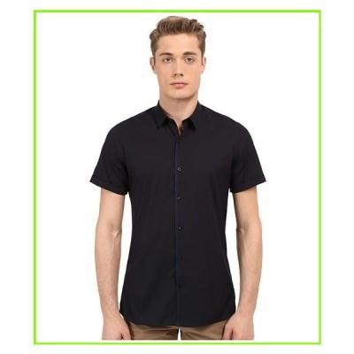 The Kooples Paper Popeline Short Sleeve Shirt The Kooples Button Up Shirts MEN メンズ Navy