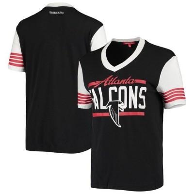 ミッチェル&ネス レディース Tシャツ トップス Atlanta Falcons Mitchell & Ness Women's MVP V-Neck T-Shirt Black