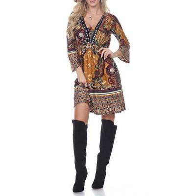 ホワイトマーク レディース ワンピース トップス Dolly Embellished Neckline Dress