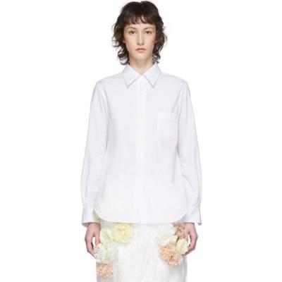 コム デ ギャルソン Comme des Garcons レディース ブラウス・シャツ トップス White Exaggerated Back Pleat Shirt White