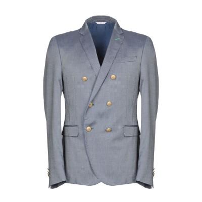マニュエル リッツ MANUEL RITZ テーラードジャケット ブルー 50 50% コットン 49% バージンウール 1% ポリウレタン テーラ