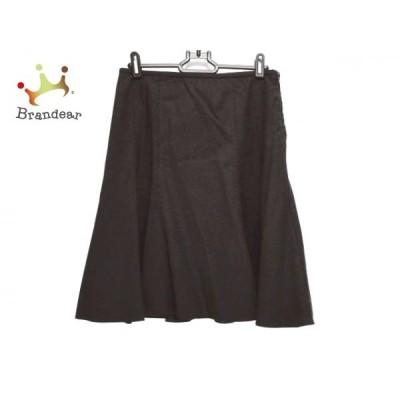アルマーニコレッツォーニ ARMANICOLLEZIONI スカート サイズ36 S レディース ダークブラウン 新着 20201113